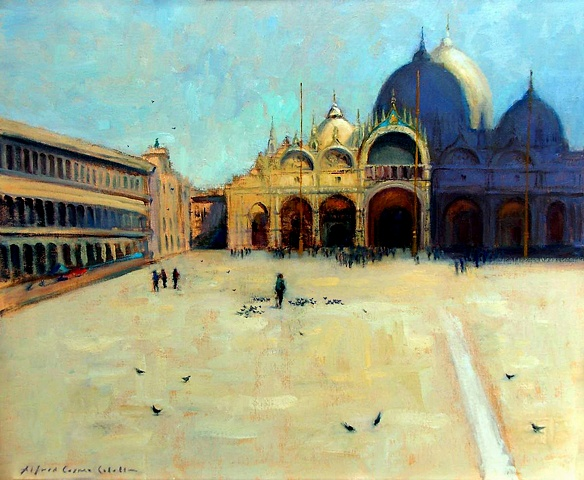 San Marco Square Venice oil painting on linen