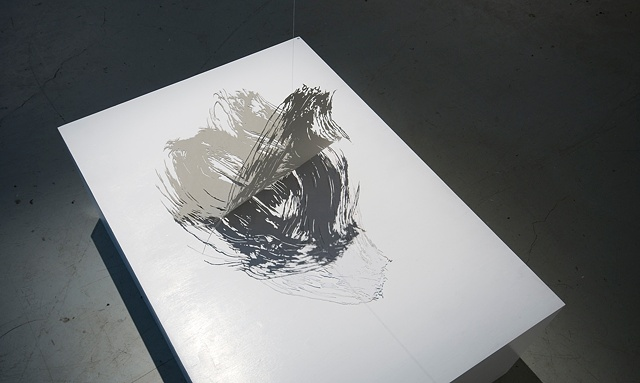 paper cut of a brushstroke