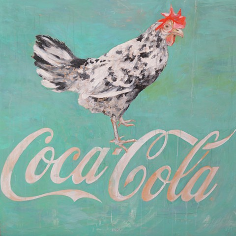 Chicken and Coca Cola Painting by Artist Katherine Bell McClure