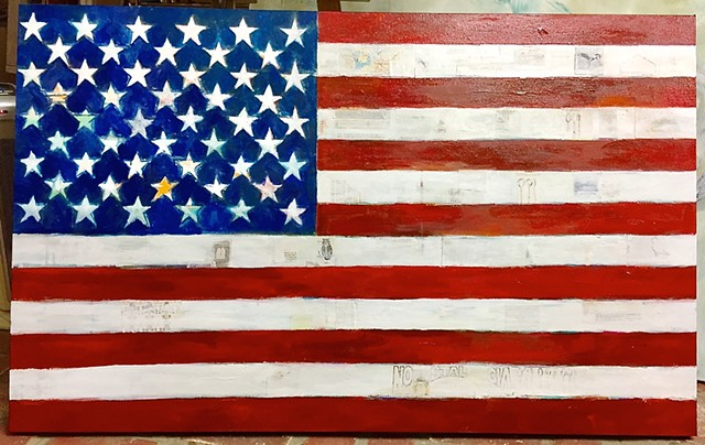 American Flag image by artist Katherine Bell McClure