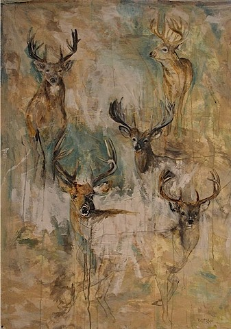 Deer painting by Katherine McClure