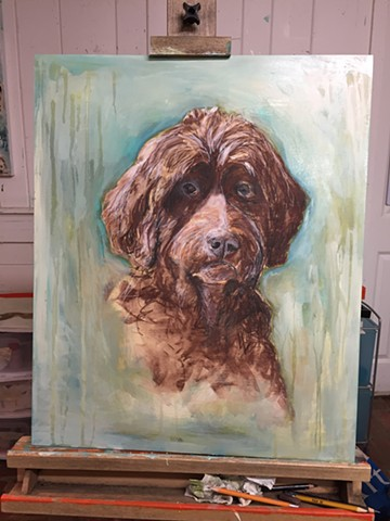 Pet Portraits by artist Katherine Bell McClure