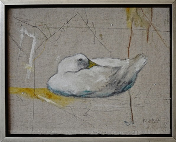 Duck on canvas by Katherine Bell McClure