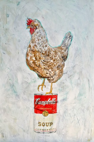 Chicken Soup chicken art by Atlanta Artist, Katherine Bell McClure