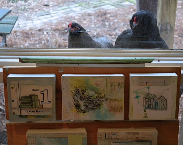 Chickens Want In The Studio of Katherine Bell McClure