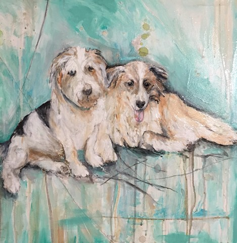 Atlanta Pet Portraits Dog Paintings by artist Katherine Bell McClure KGPBMc