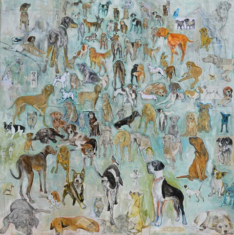 Dog painting by Katherine McClure @KMcClureArtist