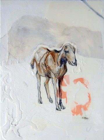 Mountain Goat painting by Katherine Bell McClure