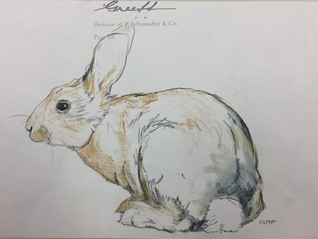 Rabbit ART by Katherine Bell McClure