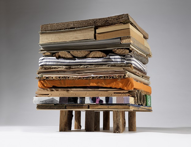 sculpture, books