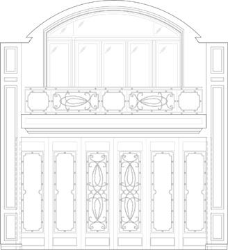 Elevation: Lobby Lounge (Doors Closed)
