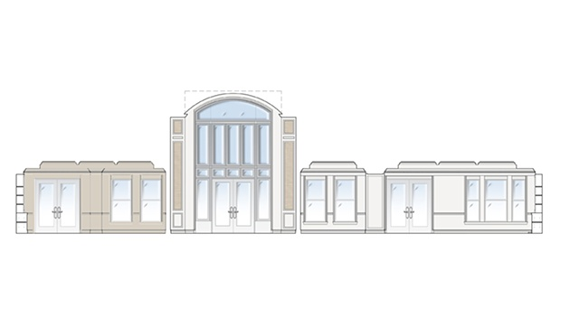 Elevation: Library, Lounge, Club