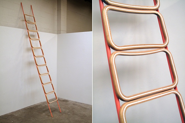 21914010 (fir, beech, spackle, paint) - ladder