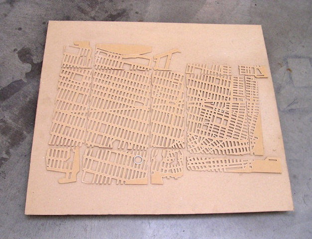 4364806 (cardboard, paint, plywood, map)