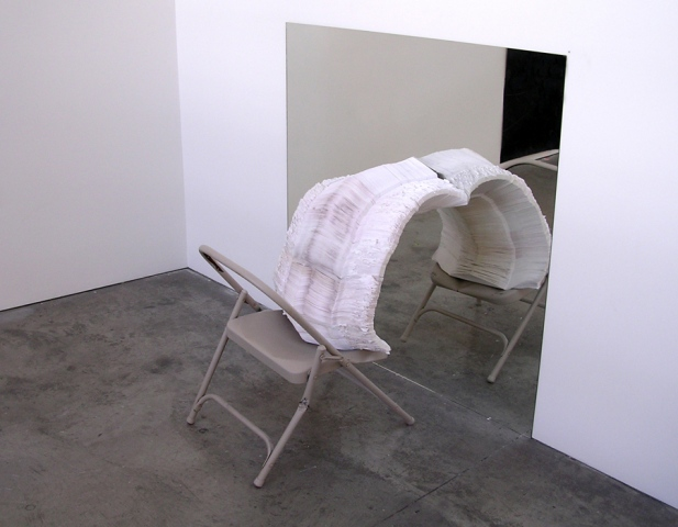 36484806 (folding chair, envelopes, mirror, wall, ground)