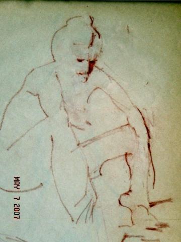 SEATED FEMALE NUDE 014