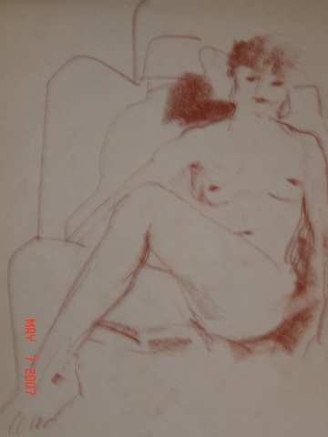 SEATED FEMALE NUDE 017