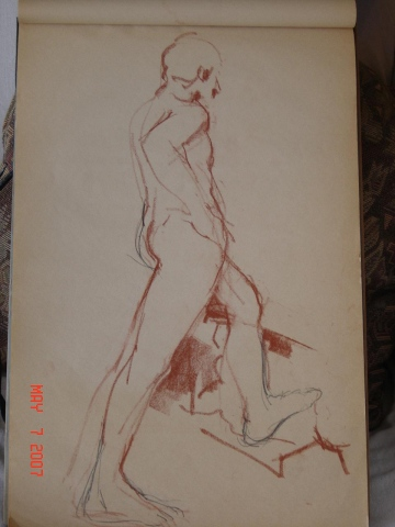 STANDING MALE NUDE 020