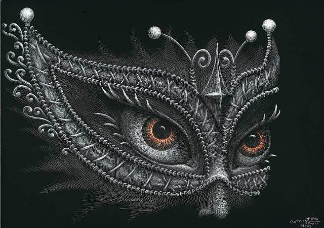 Masquerade Mask Elven mask gothic halloween costume