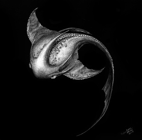 ancient fish, mythology, fantasy art