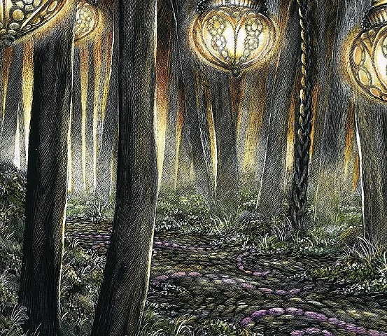 dreamscape forest pathway colorful faith