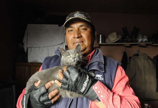 Benito and his cat.