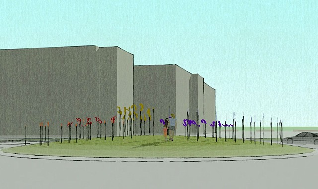 Public Sculpture Proposal (computer animation) Wilson Center for the Arts Brookfield, WI