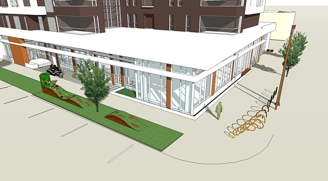 Exterior Public Art - Milwaukee Public Library, East Branch (overview rendering)