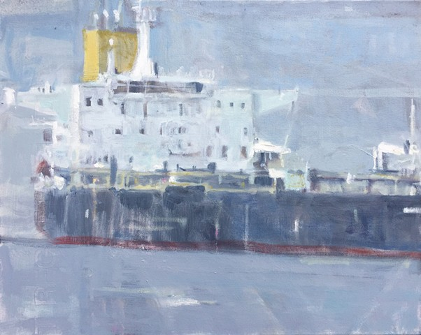 Painting of freighter - one of a series of six