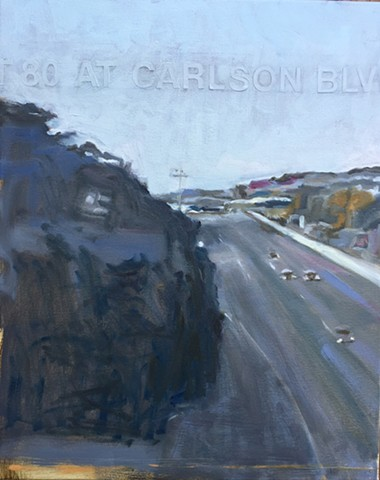 painting of highway , california highways, traffic camera