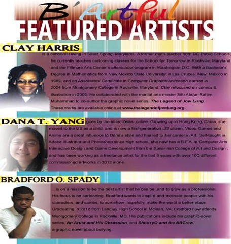 Featured Artists for the B'Artful Cartooning Workshop 10/26/2013. Register & experience it for yourself