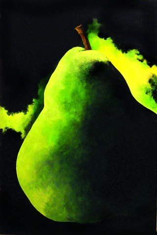 """Large Green Pear"""