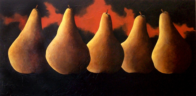 """Five Bosque Pears"""