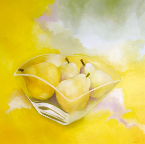 """Pears In A Glass Bowl"""
