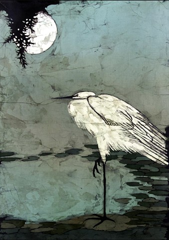 Full Moon Heron