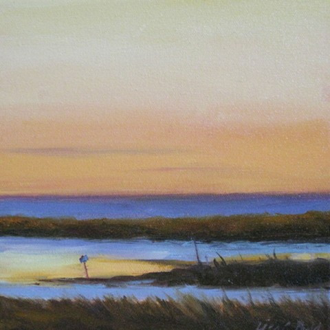 Sunset Marshes by Lisa Budd