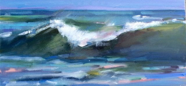 wave, LBI, painting, oils, Jersey shore,