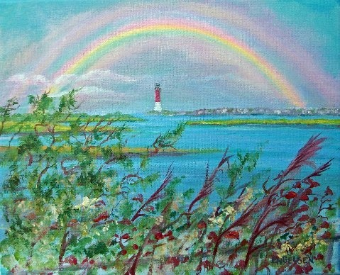 Rainbow Over Barnegat Light