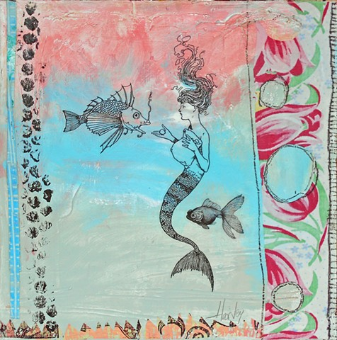 """Mermaid & Fish"" by Laura Harvey"