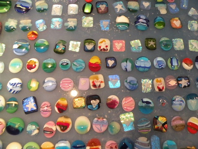 Fused Glass Beads by Mary Tantillo