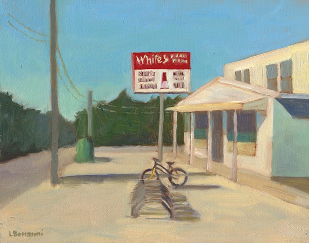 Painting of White's Market, Barnegat Light NJ by LBI Artist Lori Bonanni
