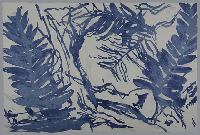 """Blue Fossil Fern 4 of the series """"Fossilized."""""""