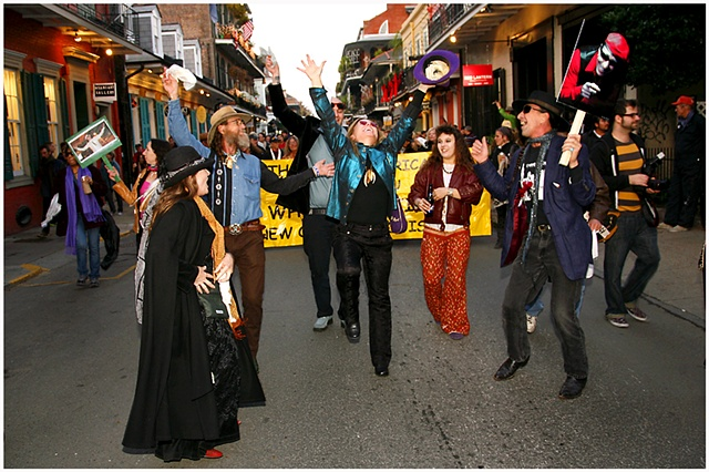 Frenchmen street was crowded with hundreds if not thousands of people gathering to celebrate the life of Coco Robicheaux. The second line made its way to the House of Blues where a free concert was held to celebrate the life, memory and music of Coco. A b