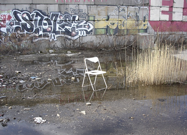 IKEA graffiti chair photograph by Michael Bernstein
