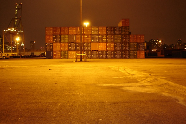 Shipping Container photograph by Michael Bernstein