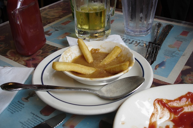 Fries in gravy photograph by Michael Bernstein