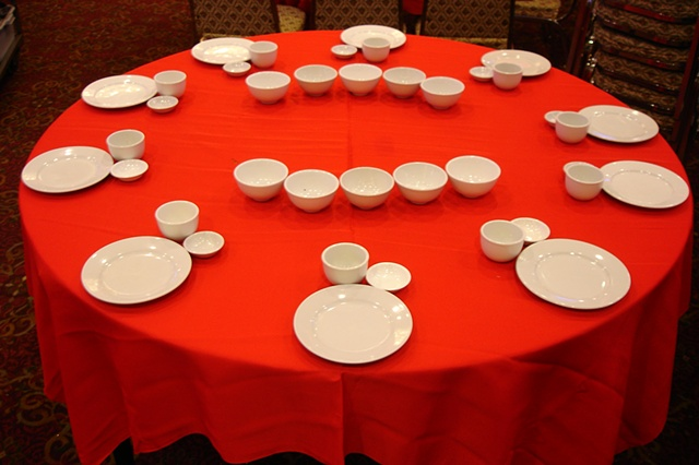 dim sum plates table photograph by Michael Bernstein