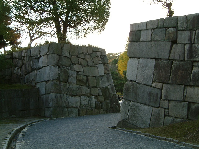 Kyoto castle stone wall  photograph by Michael Bernstein