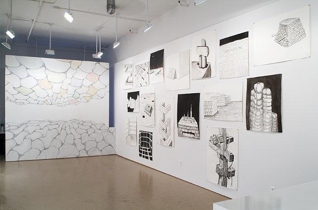 "Installation view ""A Diamond Valley"" Hudson Franklin Gallery"