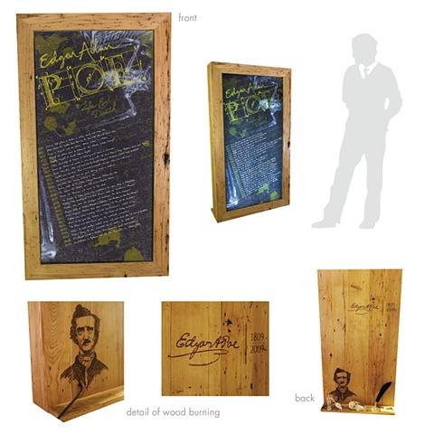 Edgar allan poe life and death timeline woodburning lightbox